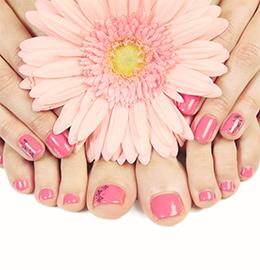 5 Star Nails Spa Pink White Full Set And Natural Spa Pedicure